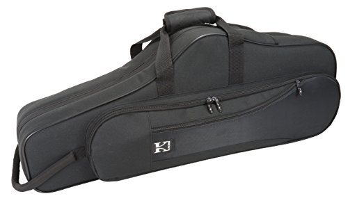 Kaces KBO-TSBK Lightweight Hardshell Tenor Sax Case, Black (Tenor Sax Case Protect)