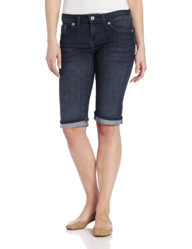 Dickies Women's Denim Bermuda Short, Antique Dark, (Fire Stretch Jeans)