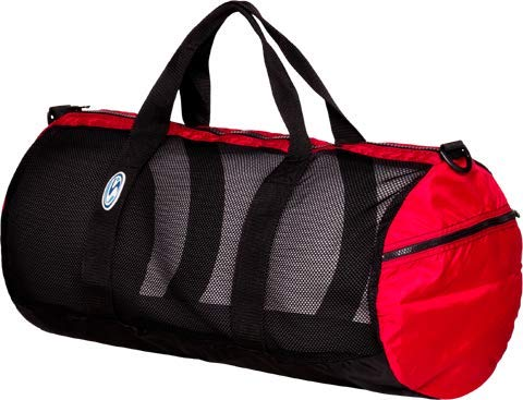 "Stahlsac by Bare 26"" Mesh Duffel Bag (Black/Red)"