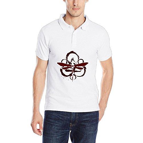 Mens Coheed And Cambria Progressive Rock Band Short Sleeve Polo Shirts Vintage