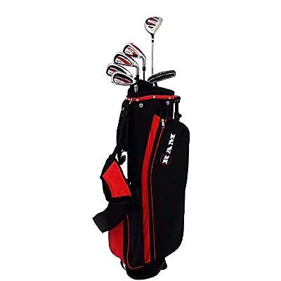 "RAM Golf SGS Mens -1"" Golf Clubs Starter Set with Stand Bag - Steel Shafts"