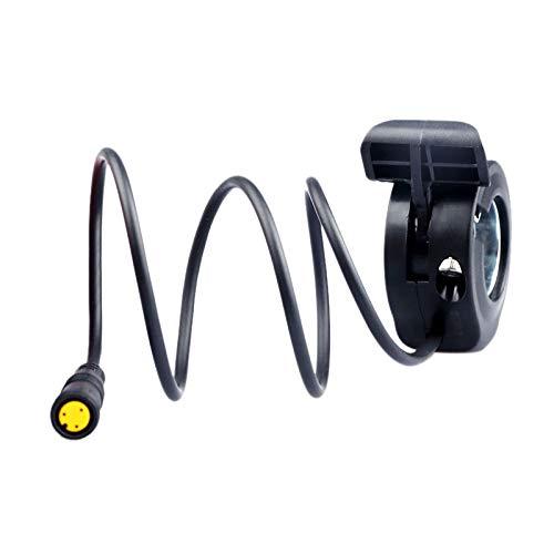 Sothat Thumb Throttle for Bafang Mid Drive Motor E-Bike Conversion Kits 36V 48V 52V 250W 500W 750W 1000W Waterproof 3Pin Female