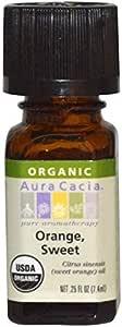Aura Cacia, Organic, Orange, Sweet.25 fl oz (7.4 ml)