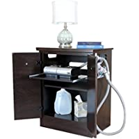 Mahogany CPAP Nightstand with Moisture Resistant Surfaces