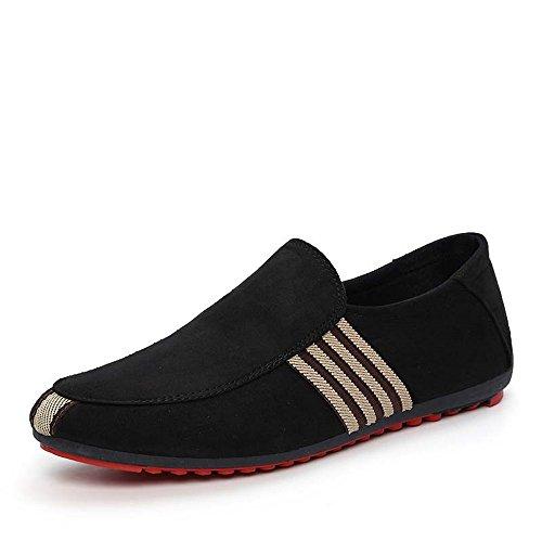 Nog Een Andere Zomer Heren Lichtgewicht, In Te Ademen Casual Stijl Loafers Canvas Zwart