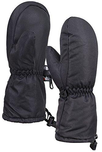ThunderCloud Kids Boys&Girls Waterproof Winter Ski Mitten Gloves,Black,S