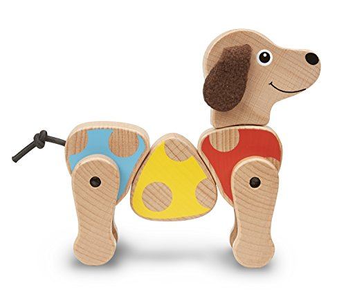 Melissa & Doug Puppy Wooden Grasping Toy for Baby