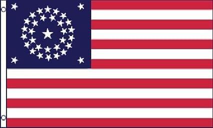 Guerra Civil 34 Star Unión bandera 3 x 5 3 x 5 pies NUEVO: Amazon.es: Jardín