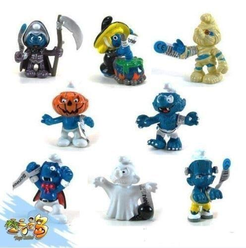 (FidgetGear New 8 PCS The Smurfs Papa Smufette Briany Halloween Collection)