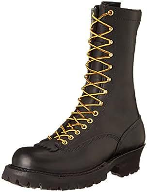 White's Boots Men's 400VLTT Smoke Jumper Lace-To-Toe Boot,Black,7 D US