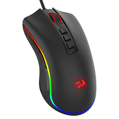 Redragon M711 COBRA RGB Gaming Mouse, 10,000 DPI Wired Optical Mouse with High Precision Inputs, 7 Programmable Buttons and 16.8 Million Customized Breathing Backlight for PC/Laptop (Best Mouse For Programming)