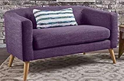 Fantastic Amazon Com Loveseats For Small Spaces Sofa Muted Purple Lamtechconsult Wood Chair Design Ideas Lamtechconsultcom