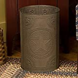 Waste Basket with Regular Star in Blackened Tin by Irvin's