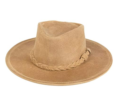 Minnetonka Men's Leather Outback Hat Tan Large