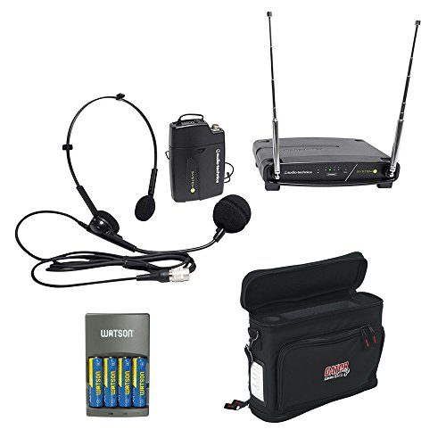 - Audio-Technica ATW-901A/H System 9 VHF Wireless Unipak System with PRO 8HEcW Headworn Microphone, GM-1W Mobile Pack & 4-Hour Rapid Charger Kit
