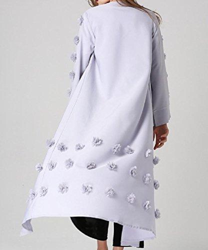 A Colore Islamica Cardi Immagine Come Lungo Maniche Puro Maxi Musulmana Coolred Abito Lunghe donne xYI44
