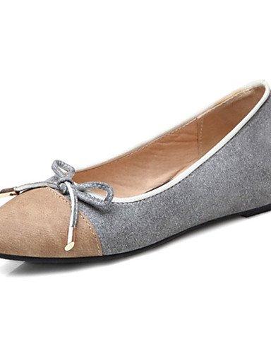 cn34 de de us5 eu35 plata negro al black personalizados gris PDX zapatos comodidad libre talón vestido mujer casual plano aire pisos materiales uk3 BqwEx4RdH