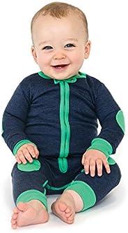 baby deedee 1 Piece Cotton, Velour Long Sleeve Footless Romper Pajama, Rainforest, 12-18 months