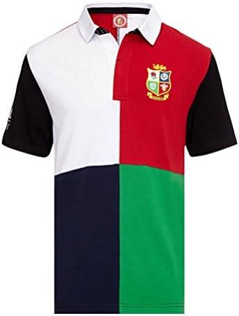 Británico & Irlanda LEONES Harlequin manga corta camiseta de rugby NUEVA ZELANDA 2017 tour - Multicolor, X-Large: Amazon.es: Ropa y accesorios