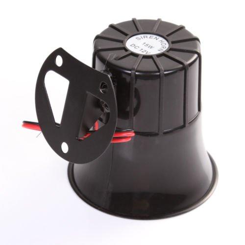 Claxon de alarma Wen/&Cheng el/éctrica sonido muy alto de 12/V 15/W furgoneta para coche cami/ón sistema PA