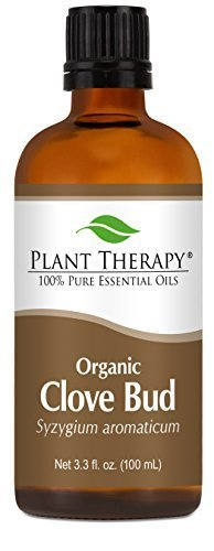 Organic Clove Bud Essential Oil. 100 ml (3.3 oz). 100% Pure, Undiluted, Therapeutic Grade. by Plant Therapy Essential Oils