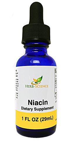 Liquid Vitamin B3 Drops Liquid Niacin Drops, Helps Support Healthy Cholesterol Levels, Alcohol-Free Liquid Niacin Extract - Herb-Science