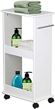 Yaheetech Mobile Storage Cart Toilet Shelf