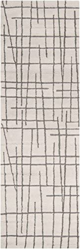 Surya Naya NY-5213 Contemporary Hand Tufted 100 New Zealand Wool Ivory 8 x 11 Geometric Area Rug