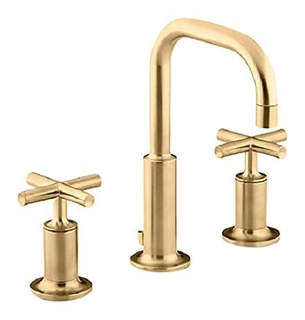 KOHLER K 14406 3 BGD Purist Widespread Bathroom Sink Faucet With Low Cross