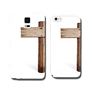 old wooden right arrow road sign isolated cell phone cover case Samsung S5