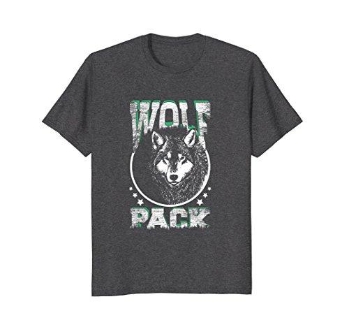 Mens Vintage Wolf T Shirt, Wolf Pack Member Tshirt for Men Large Dark Heather -