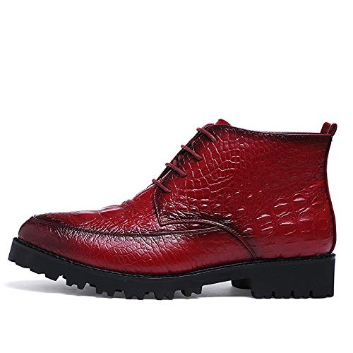 Uomo Oxford Nero Stivaletti EU shoes Tattoo uomo Business Color 38 garde Crocodile Dimensione casual Pelle Scarpe Avant Fashion da Vino Trend Xiaojuan wSX6qCn