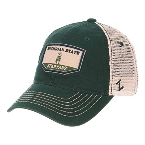 - Zephyr NCAA Michigan State Spartans Men's Trademark Relaxed Cap, Adjustable, Washed Team/White