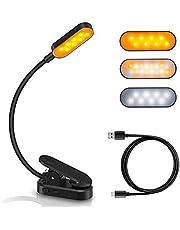 Leeslamp, leeslamp voor bed met 16 leds, 9 helderheidsmodi, verstelbaar, USB-leeslamp, 360 graden, flexibel, voor studio, bed, tablet, pc en e-reader