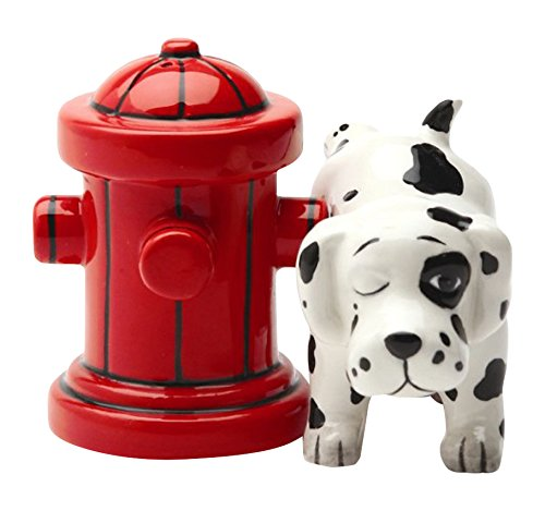 Animal Salt and Pepper Shakers - Dog and Hydrant