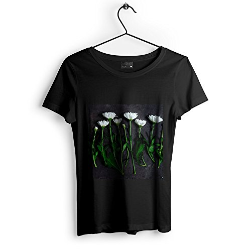 Arranging Daffodils - Westlake Art Chrysanthemum Stem - Unisex Tshirt - Picture Photography Artwork Shirt - Black Adult Medium (None-9A871)