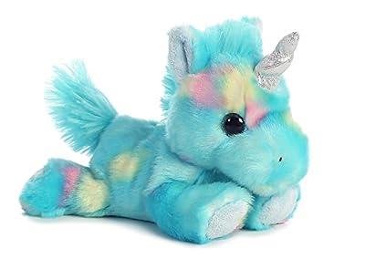 "Blueberry Ripple Unicorn Bright Fancies 7"" Stuffed Animal by Aurora Plush 16701 by Aurora"