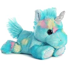 "Blueberry Ripple Unicorn Bright Fancies 7"" Stuffed Animal by Aurora Plush 16701"