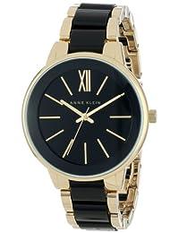 Anne Klein Women's AK/1412BKGB Gold-Tone and Black Bracelet Watch