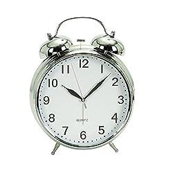 Deco 79 72789 Metal Table Clock Chrome
