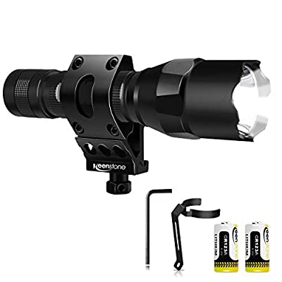 Keenstone Tactical Flashlight with Picatinny Rail Mount Set
