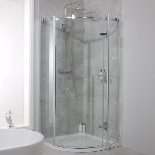 Mampara de ducha 900 x 900 cristal 6 mm: Amazon.es: Bricolaje y herramientas