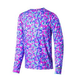 Terramar Thermolator Climasense 4-Way Stretch Brushed Crew Hoodie, Tutti Frutti Print, X-Large (18) by Terramar