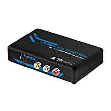 Portta AV/ CVBS Composite RCA + S-Video to HDMI Converter v1.3 up Scaler support 720p 1080p