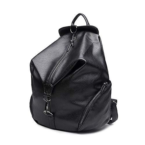 à Polyuréthane Sacs Black sac Main QZTG À Femme Fourre main Tout PU Capacité De Dos Sac À Zipper Sacs Grande CgpwqqxY