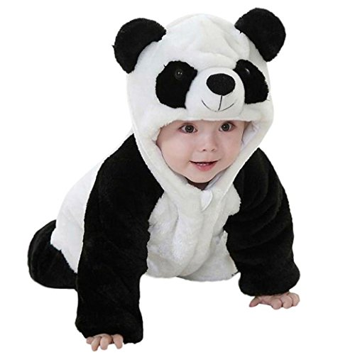 Home Made Cartoon Costumes (Residen Infant Baby Adorable Panda Jumpsuit, Cartoon Hooded Rompers Costume Home Pajamas Outfits (24 M))
