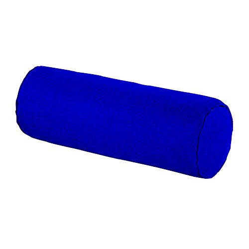 16x6Round-Neck-Roll-Pillow-Tube-Semi-Roll-Cervical-Pillow-With-Washable-Organic-Cotton-Linen-CoverDark-blue