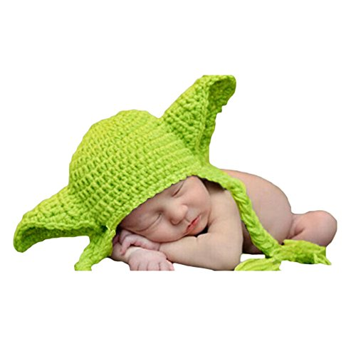 [Little Kiddo Newborn Baby Crochet Costume Photography Props Cartoon Knitting Hat Bow Infant Photo Props] (Super Cute Infant Costumes)