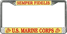 U.S. MARINE CORP SEMPER FIDELIS License Plate Frame