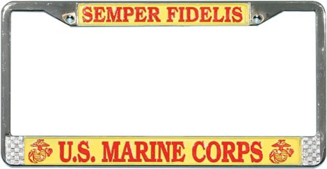 Mitchell Proffitt US Marines Semper Fidelis License Plate Frame Pro-Motion Distributing - Direct LFM01